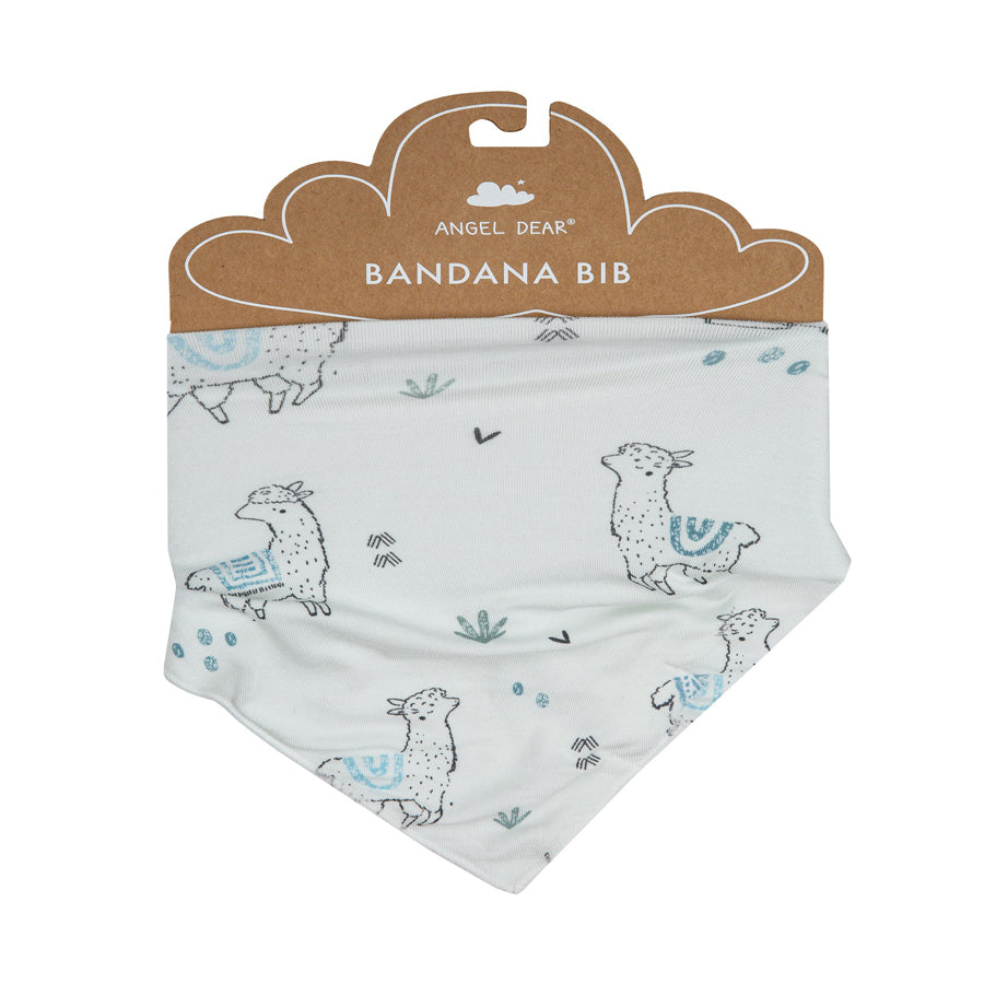 Llama Bandana Bib Blue-Angel Dear-Joanna's Cuties