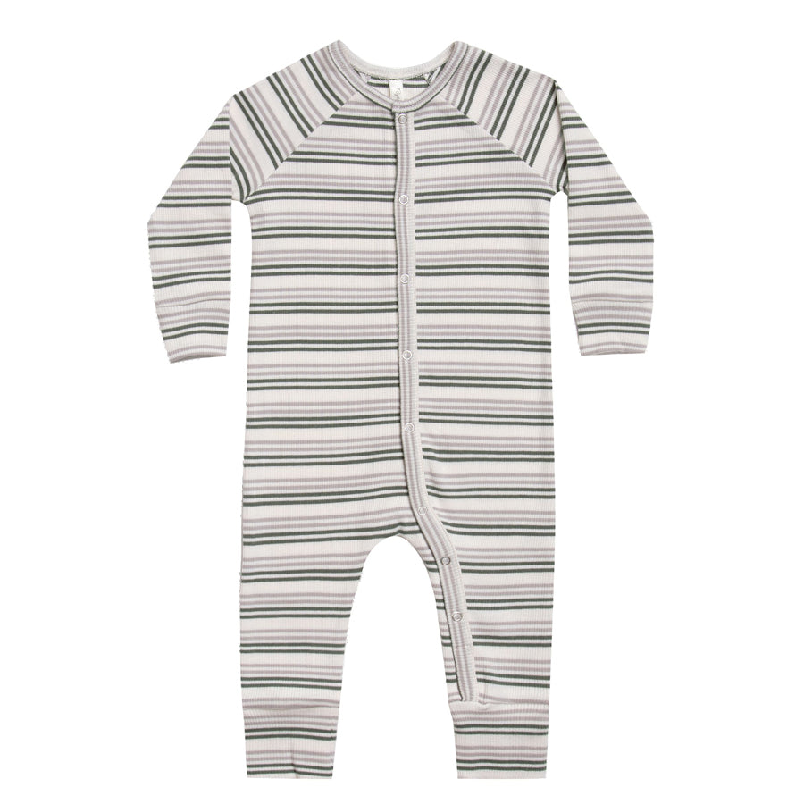 Long John Pajamas - Forest Stripe