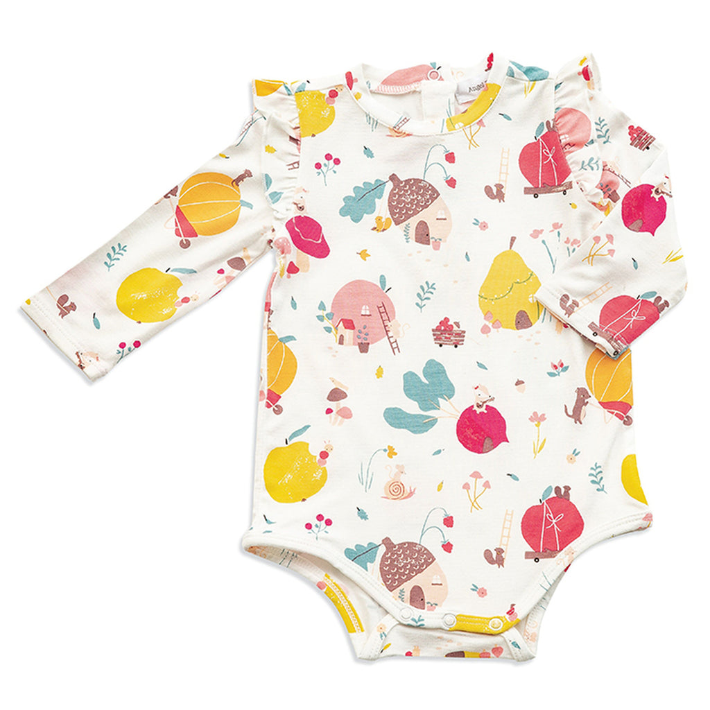 Fruit Homes Ruffle Bodysuit - Angel Dear - joannas-cuties
