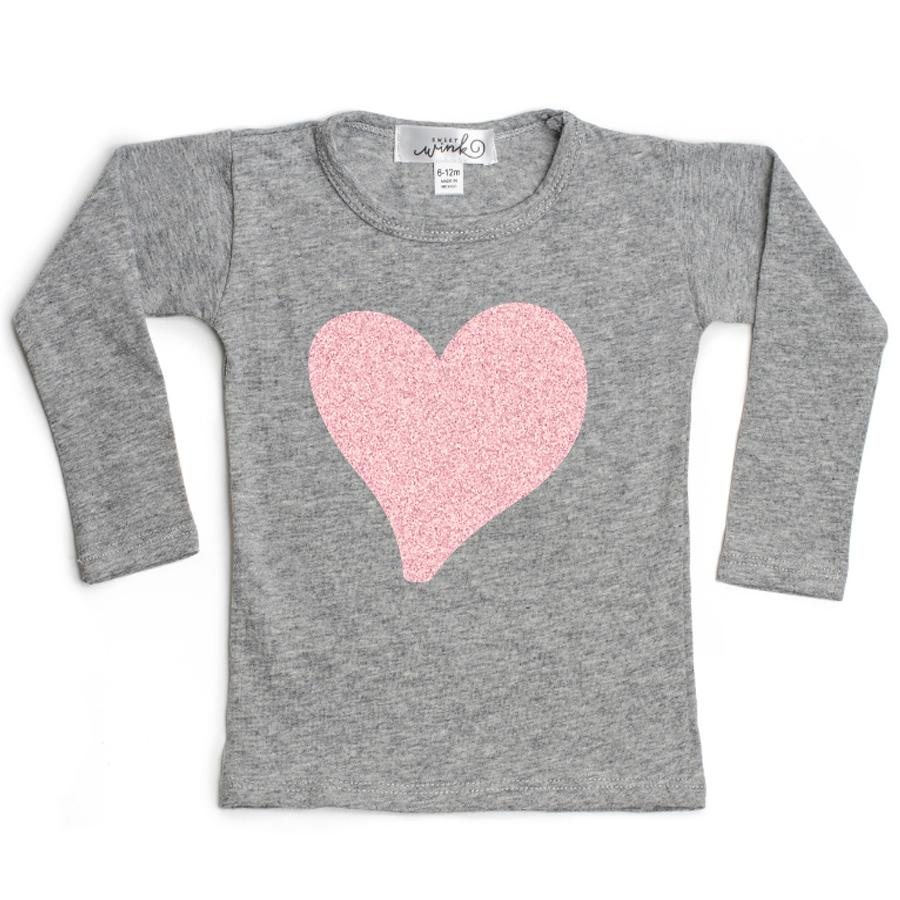 Long Sleeve Top - Glitter Heart, Sweet Wink - Joanna's Cuties