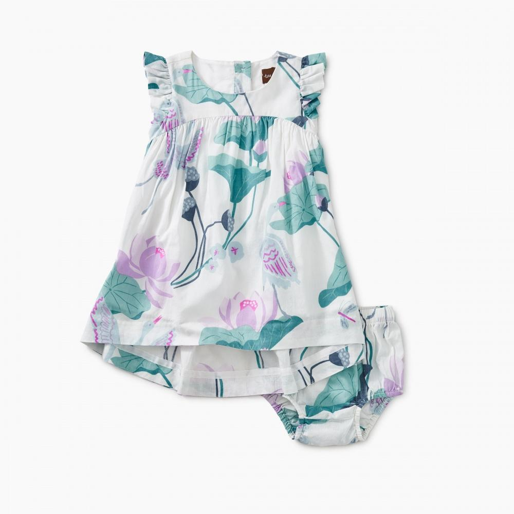 Lotus Hi-Lo Baby Dress-Tea-joannas_cuties