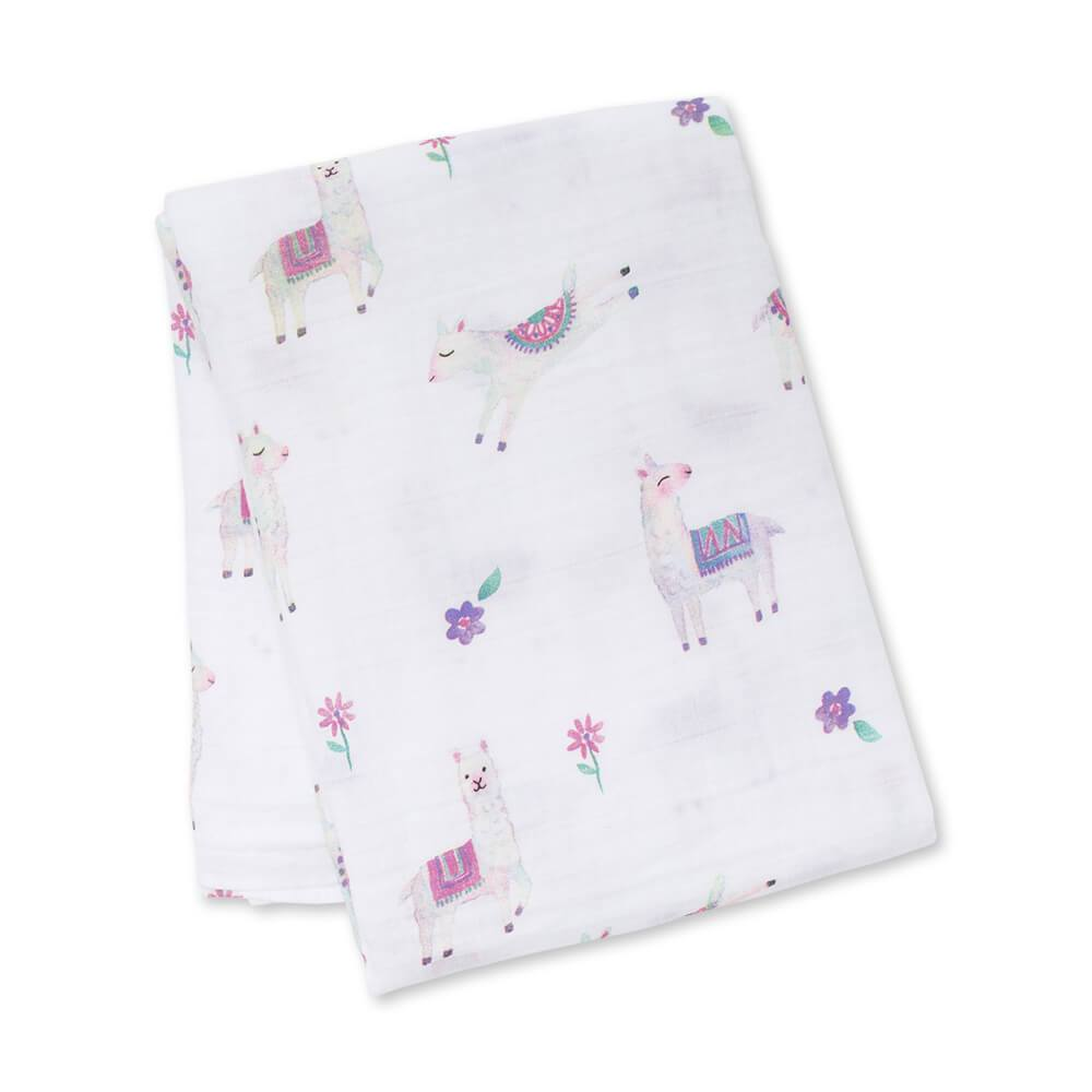 Lulujo Llama Cotton Swaddle – 47×47″ - Lulujo - joannas-cuties