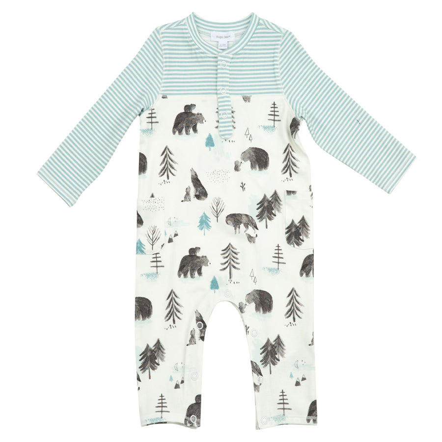 Mama And Cubs Romper With Pockets-Angel Dear-Joanna's Cuties