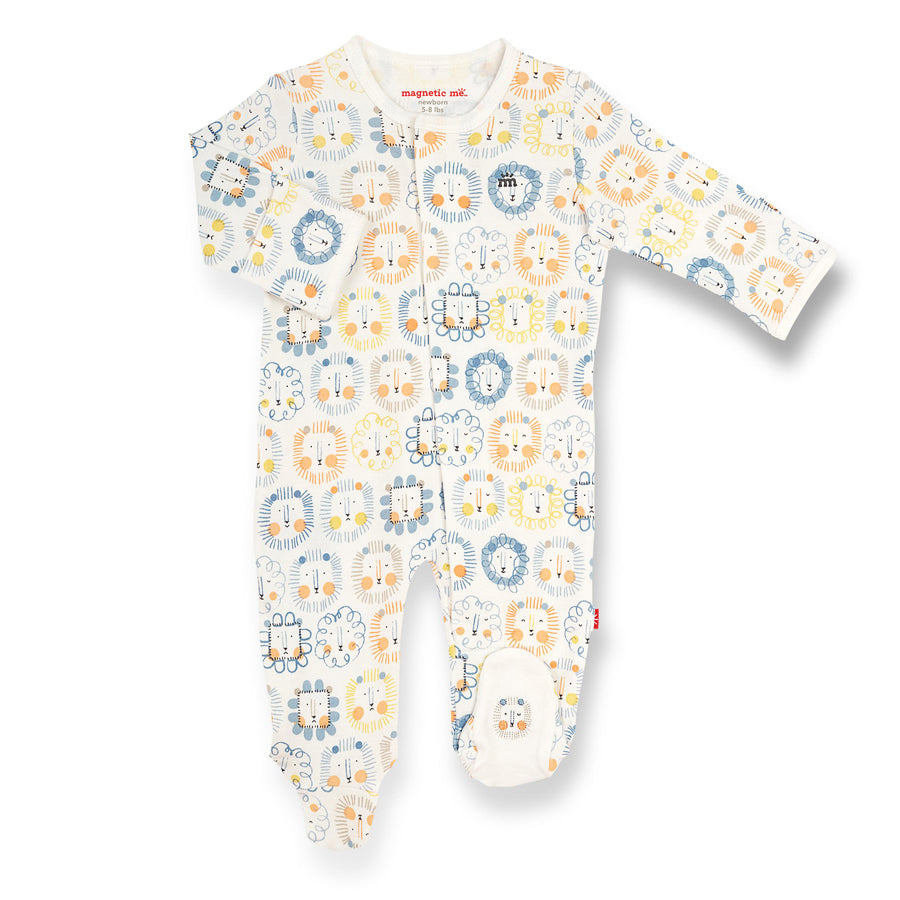 Mane Event Organic Cotton Magnetic Footie-Magnetic Me-Joanna's Cuties