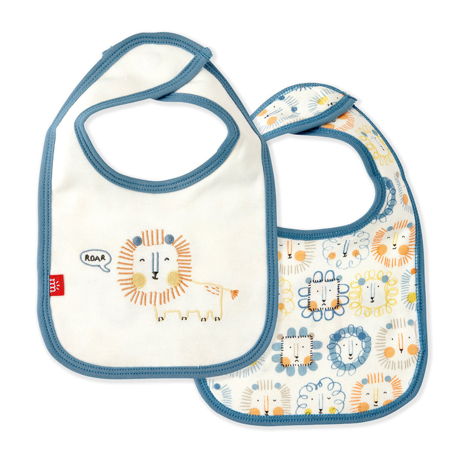 Mane Event Organic Cotton Magnetic Reversible Bib-Magnetic Me-Joanna's Cuties