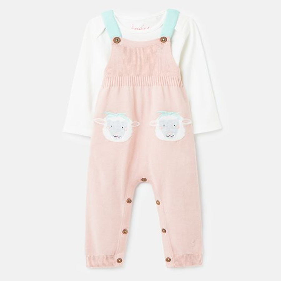 Knited Dungaree Set