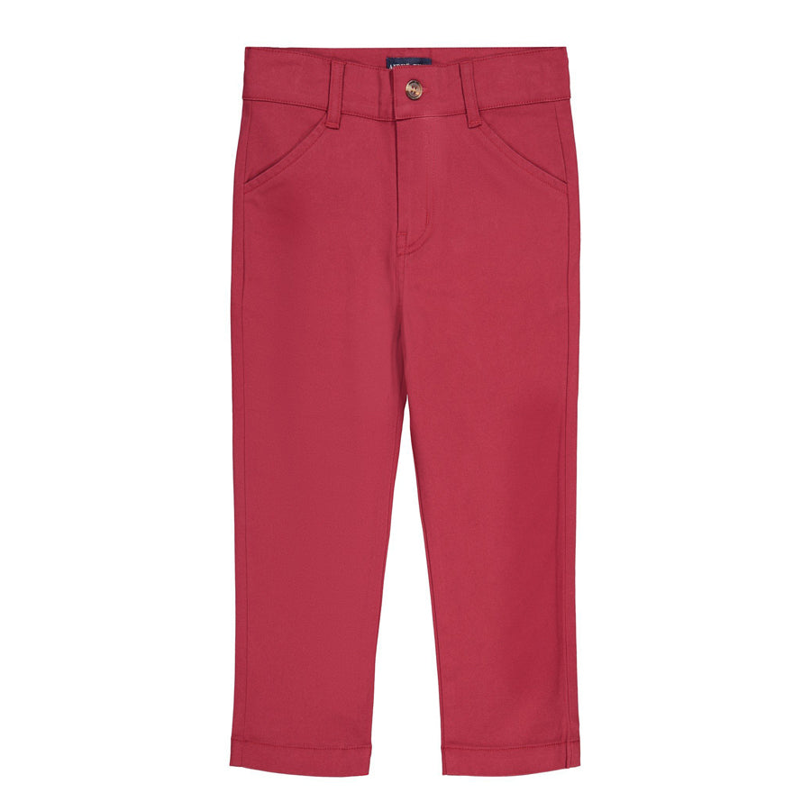 Maroon Twill Pants - Andy & Evan - joannas-cuties