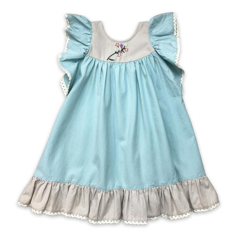 Maya Dress- Aqua - Little Prim - joannas-cuties