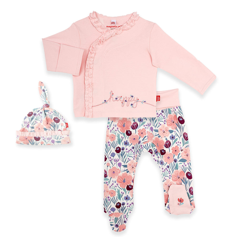 Mayfair Organic Cotton Magnetc 3-Piece Kimono Set-Magnetic Me-Joanna's Cuties
