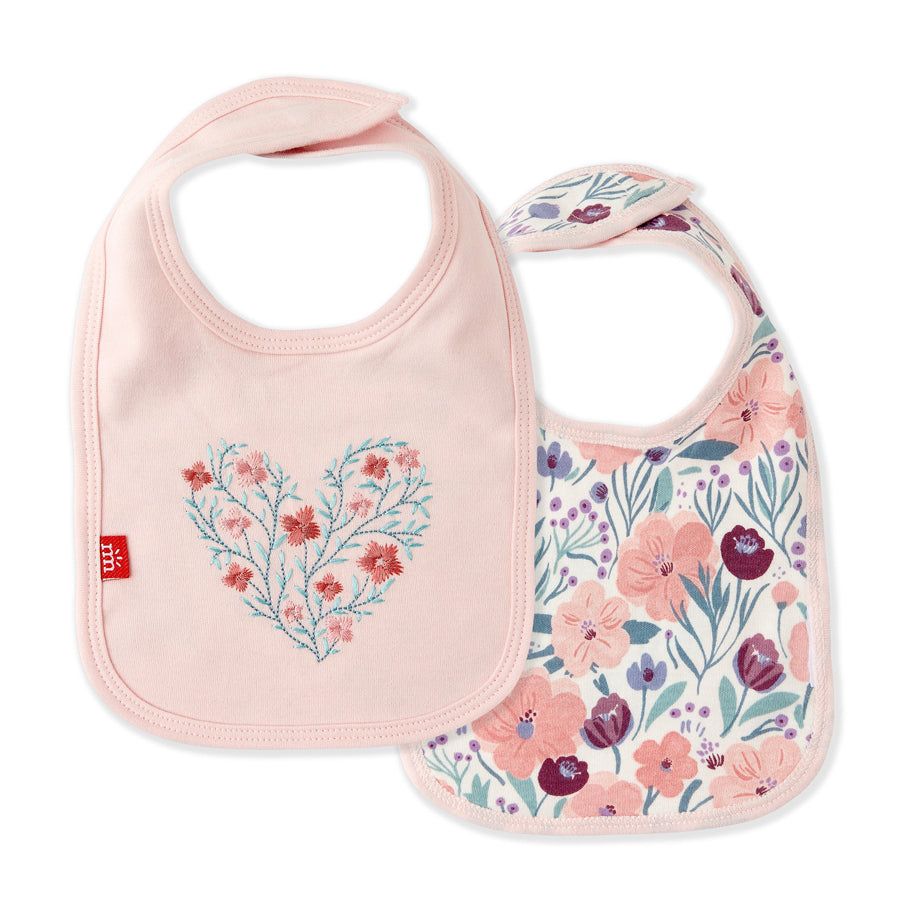 Mayfair Organic Cotton Magnetic Reversible Bib