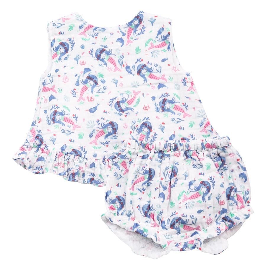 Mermaid Ruffle Top & Bloomer-Angel Dear-Joanna's Cuties