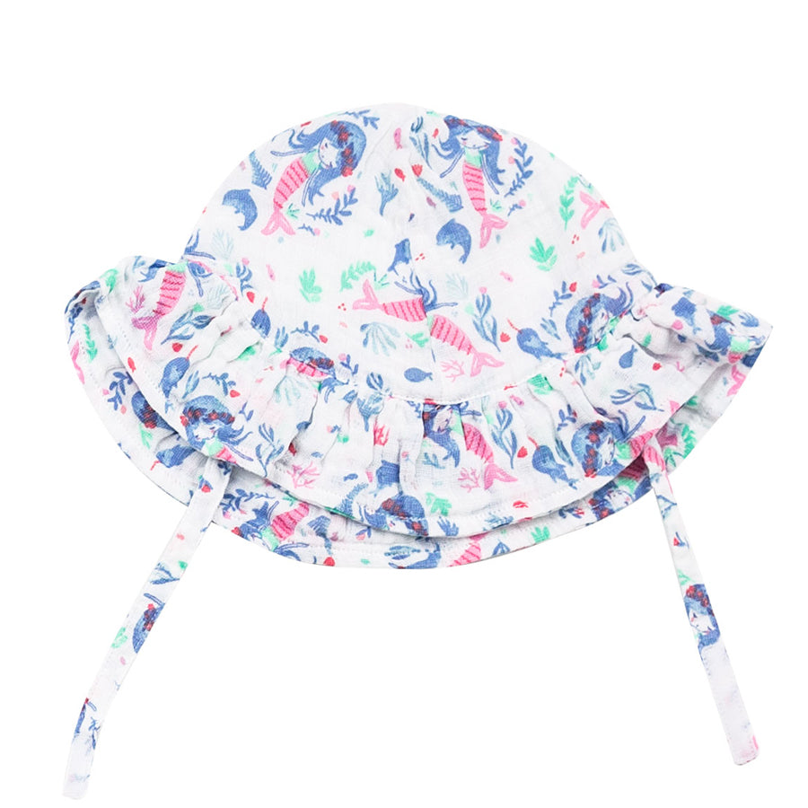 Mermaid Ruffle Sunhat-Angel Dear-Joanna's Cuties