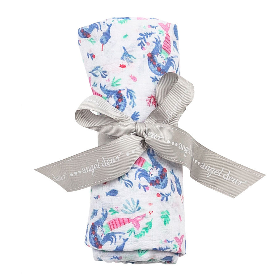 "Mermaid Swaddle Blanket 47""x 47""-Angel Dear-Joanna's Cuties"