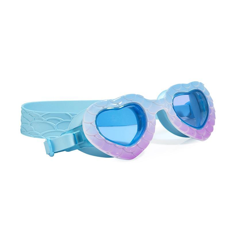 Mermaid Swim Goggles for Girls Sea Blue/ Purple-Bling2O-Joanna's Cuties