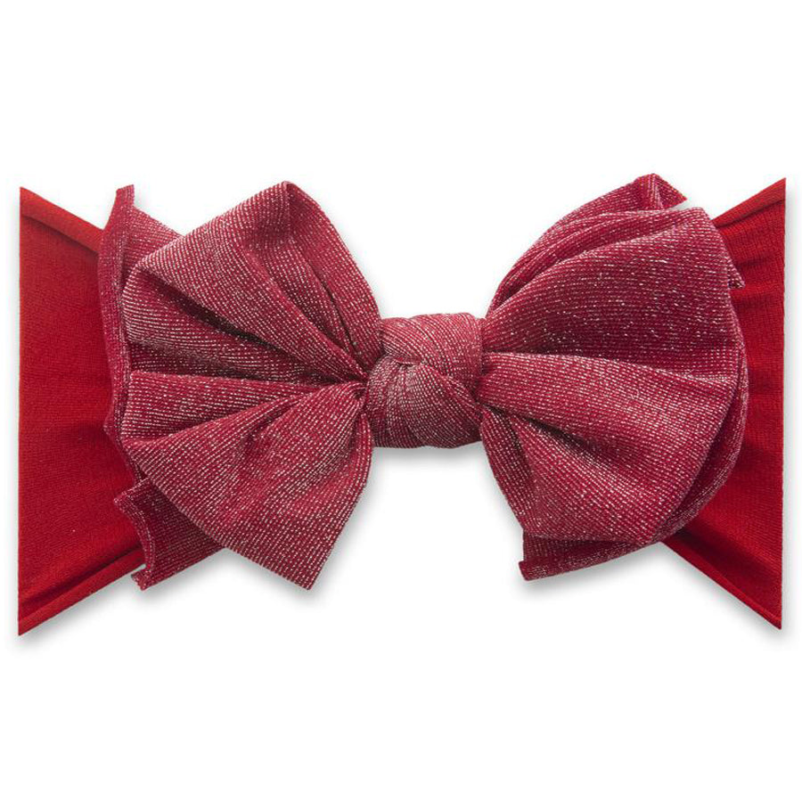 Metallic Fab Headband - Red-Baby Bling-Joanna's Cuties