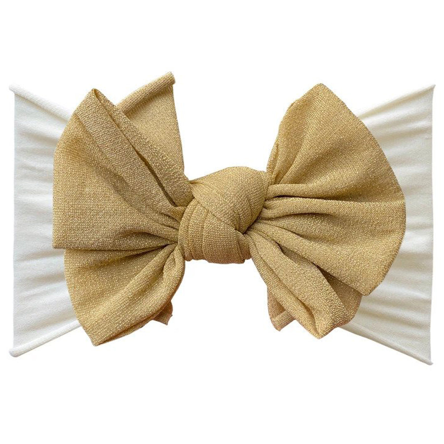 Metallic Fab Headband - Gold-Baby Bling-Joanna's Cuties