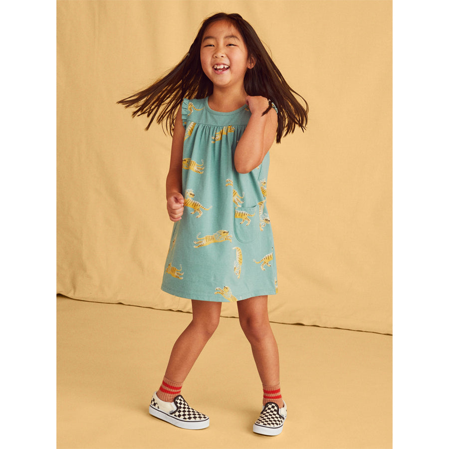 Mighty Mini Dress- Barbary Lion-Tea-Joanna's Cuties