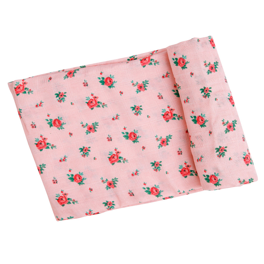 Mini Rose Swaddle Blanket
