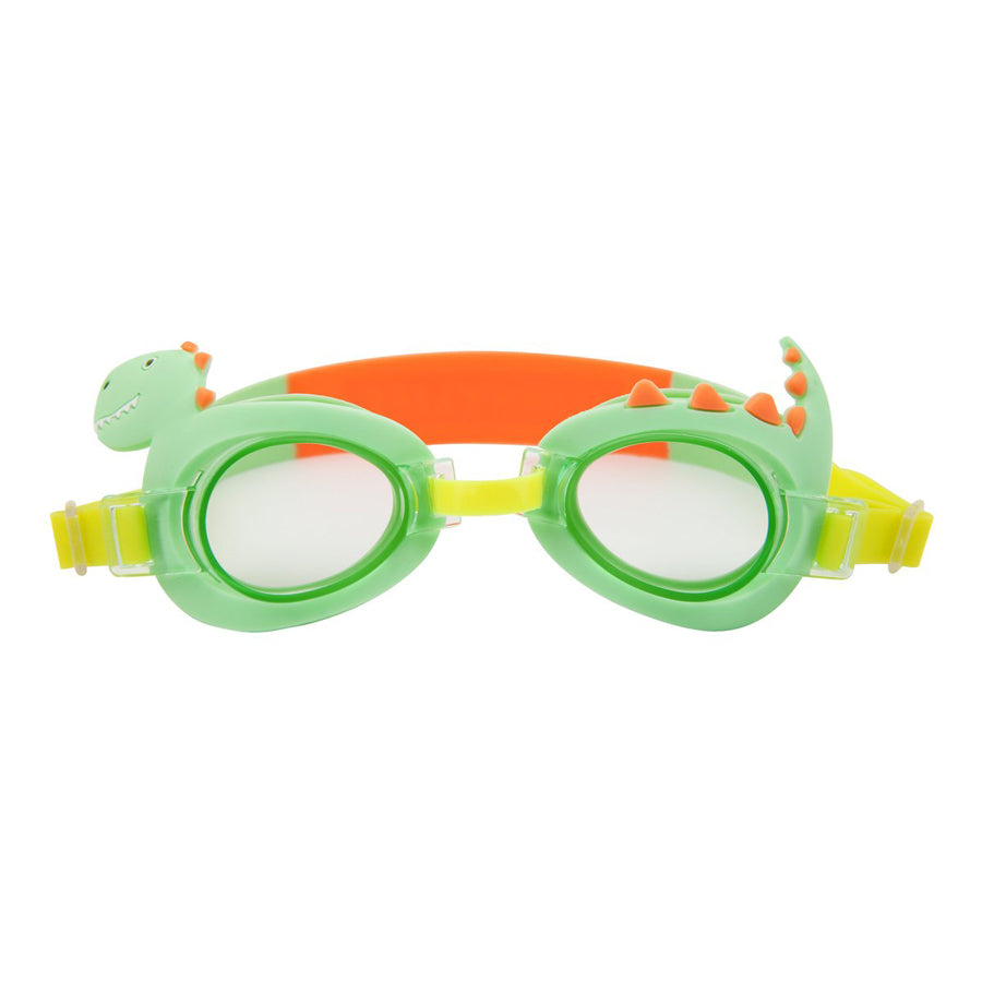 Mini Swim Goggles - Surfing Dino