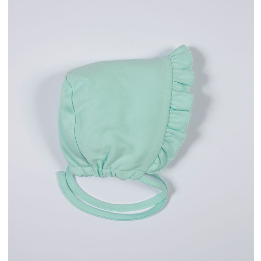 Mint Kissy Basics Ruffle Bonnet - Kissy Kissy - joannas-cuties