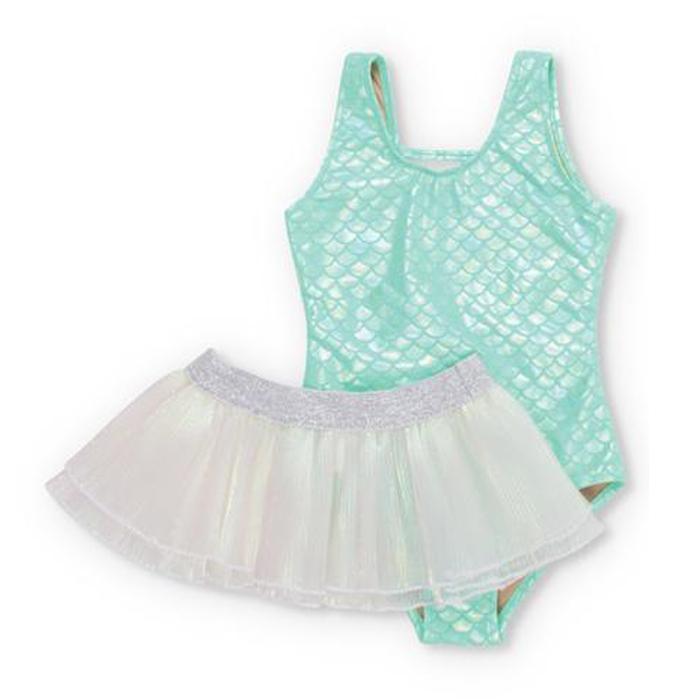 Mint Metallic Mermaid Scoop Swimsuit Set - Shade Critters - joannas-cuties