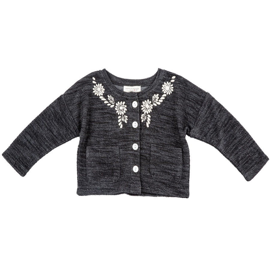 Modern Vintage Sweater - Charcoal, Mimi & Maggie - Joanna's Cuties