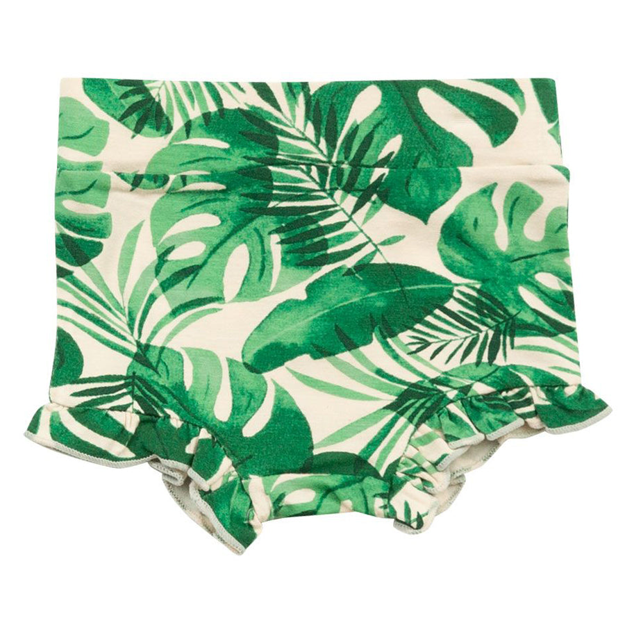 Monstera Deliciosa High Waist Shorts-Angel Dear-Joanna's Cuties