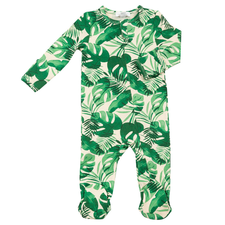 Monstera Deliciosa Zipper Footie-Angel Dear-Joanna's Cuties