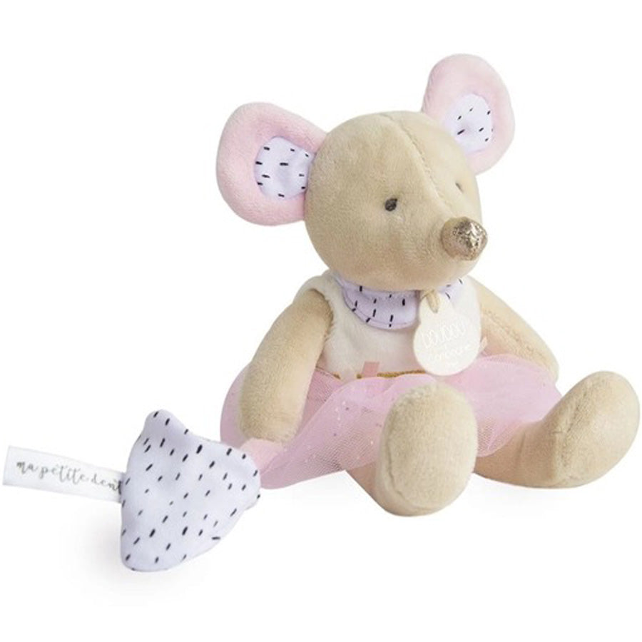 Mouse Stuffed Animal With Tutu-Doudou Et Compagnie-Joanna's Cuties