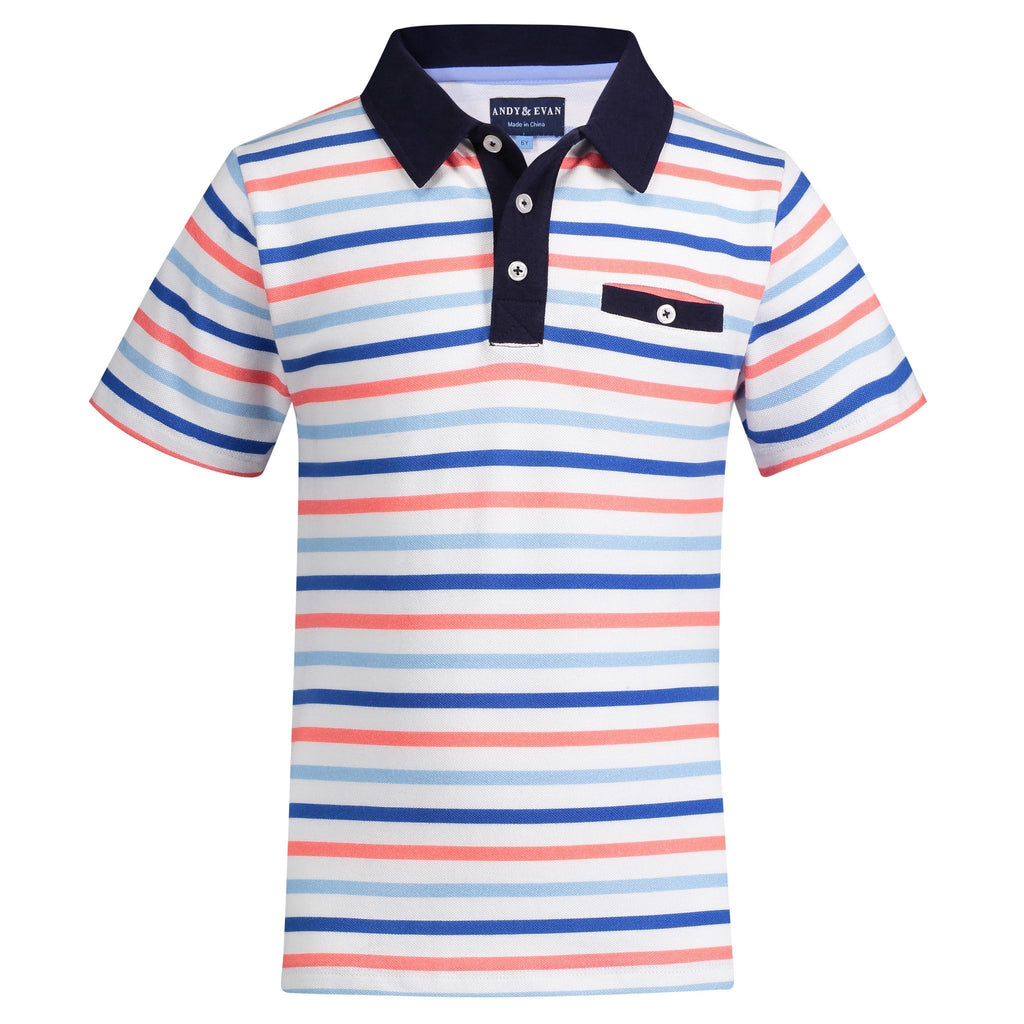 Multi Colored Stripe Polo - Andy & Evan - joannas-cuties