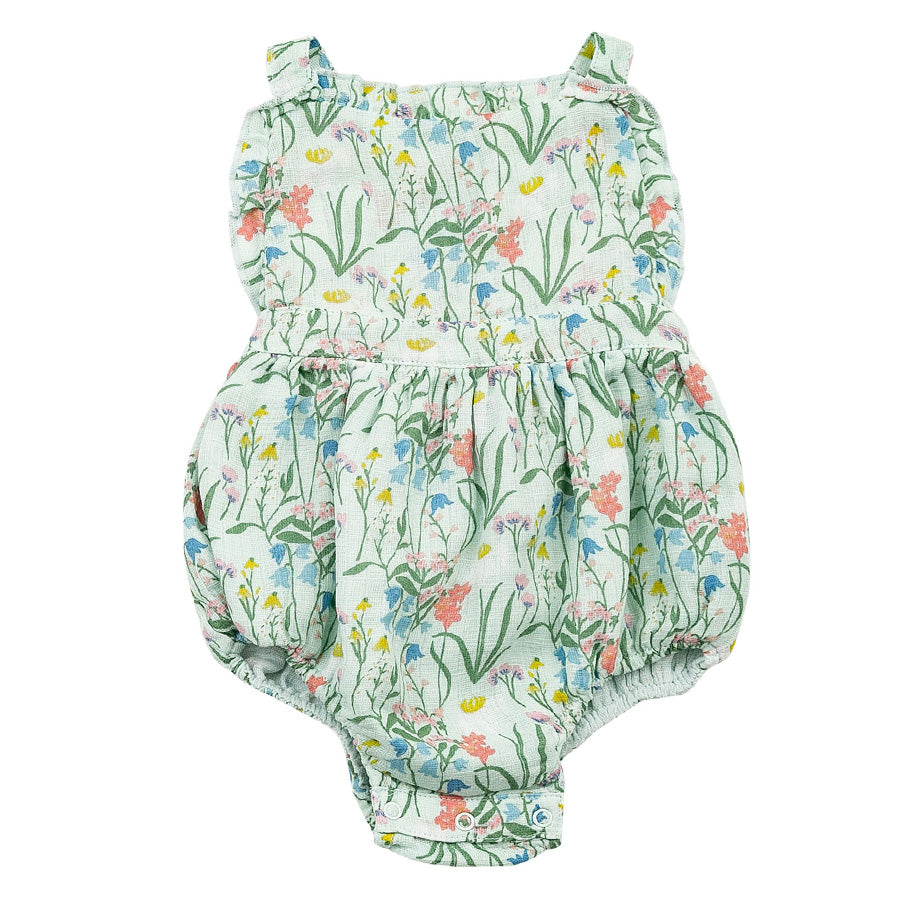 Muslin Ruffle Bib Bubble - Summer Morning-Angel Dear-Joanna's Cuties