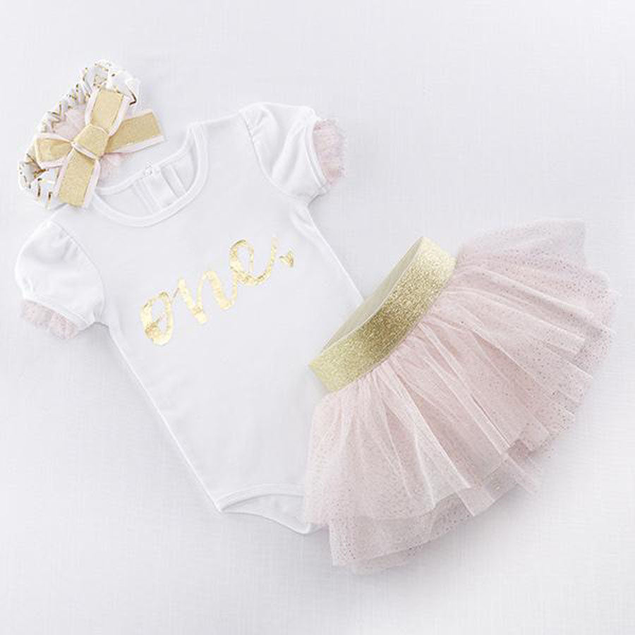 My First Birthday 3 Piece Tutu Outfit-Baby Aspen-Joanna's Cuties