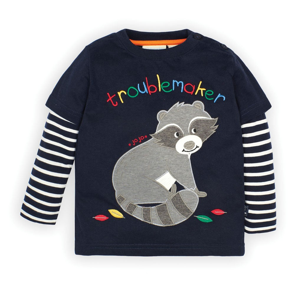 Navy Raccoon Top - JoJo Maman Bebe - joannas-cuties