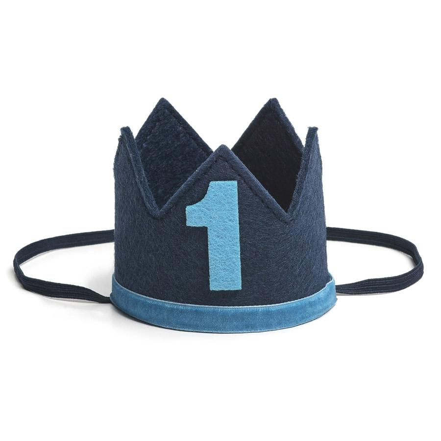 Navy/Blue #1 Boy Crown - Sweet Wink - joannas-cuties