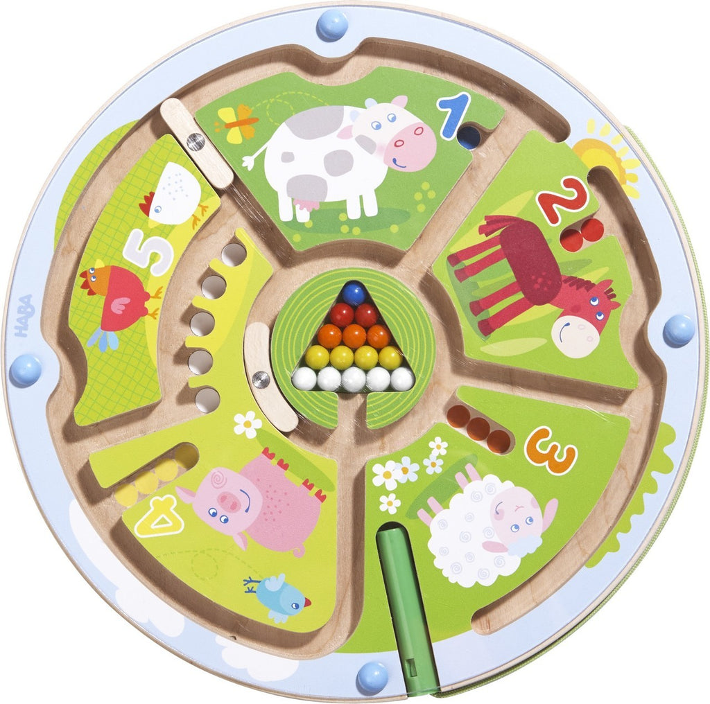 Number Maze Magnetic Game - Haba - joannas-cuties