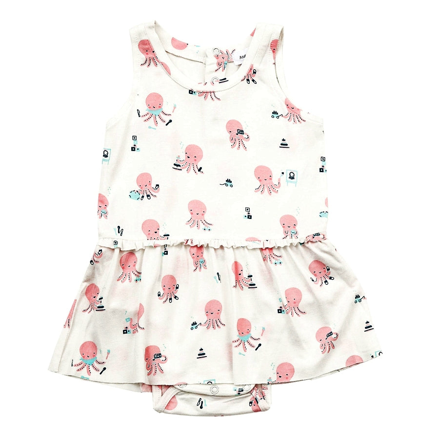 Octopus Playtime Bodysuit With Skirt-Angel Dear-Joanna's Cuties