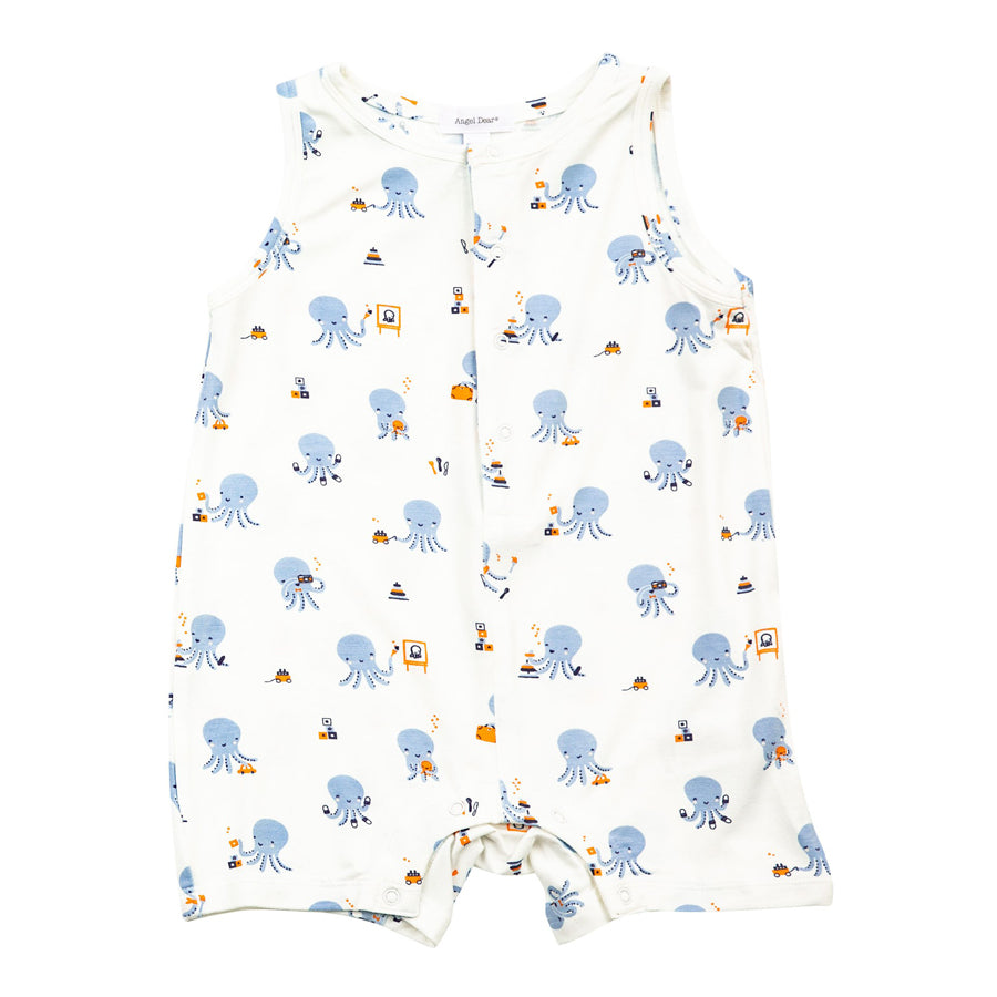 Octopus Playtime Sleeveless Shortie Romper-Angel Dear-Joanna's Cuties