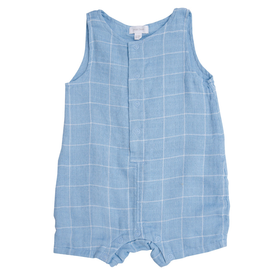 Off The Grid Shortie Romper - Blue