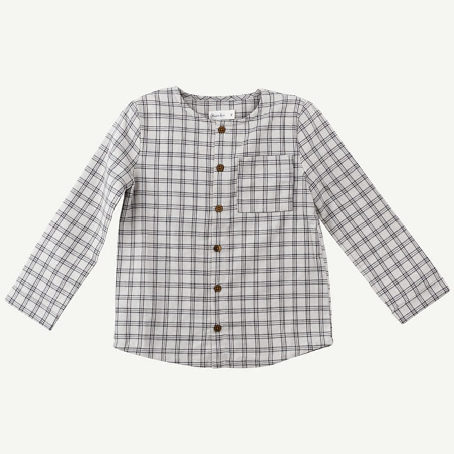 Gray Checkered Woven Top - Oliver & Rain - joannas-cuties