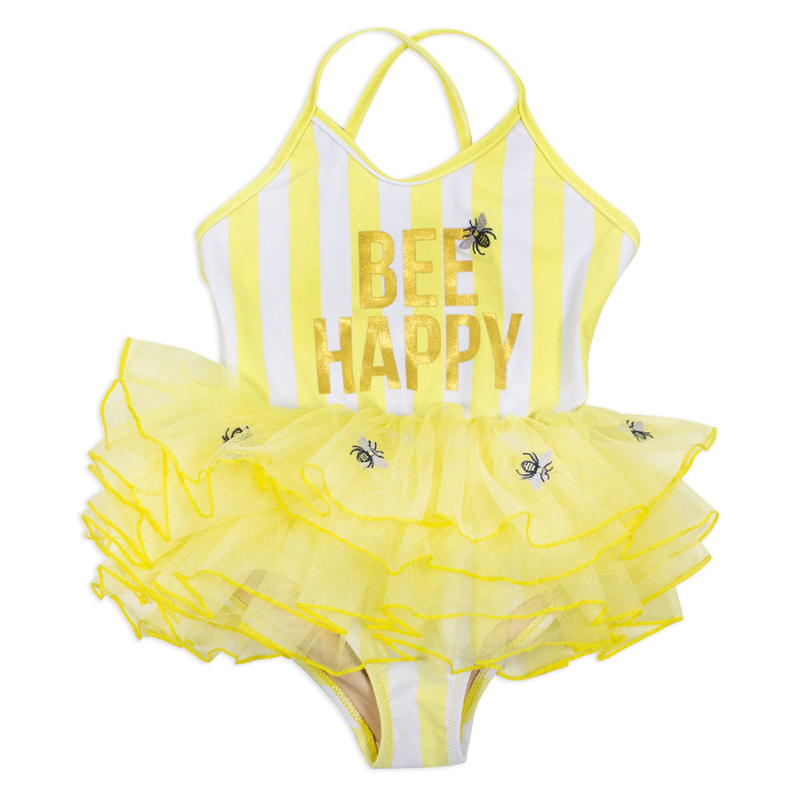 One Piece Tulle Suite - Bee Happy-Shade Critters-Joanna's Cuties