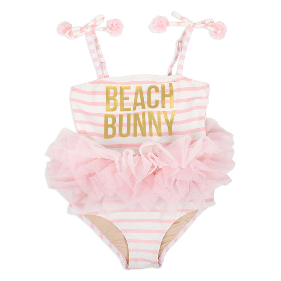 One Piece With Tulle- Beach Bunny