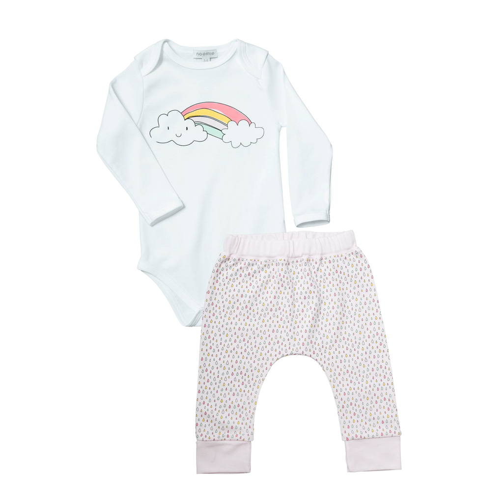 Onesie/ Pant Set Rainbows - Noomie - joannas-cuties