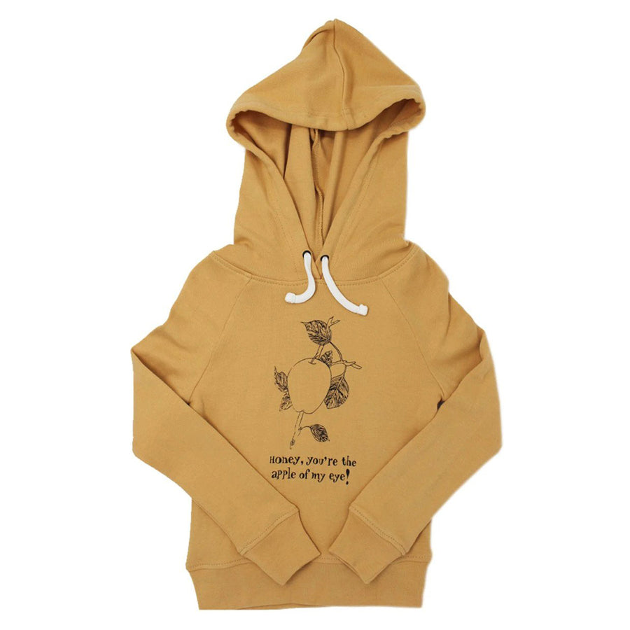 Organic Kids' Graphic Hooded Sweatshirt in Honey Apple - L'ovedbaby - joannas-cuties