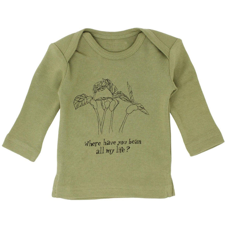 Organic L\Sleeve Shirt in Sage Beans - L'ovedbaby - joannas-cuties