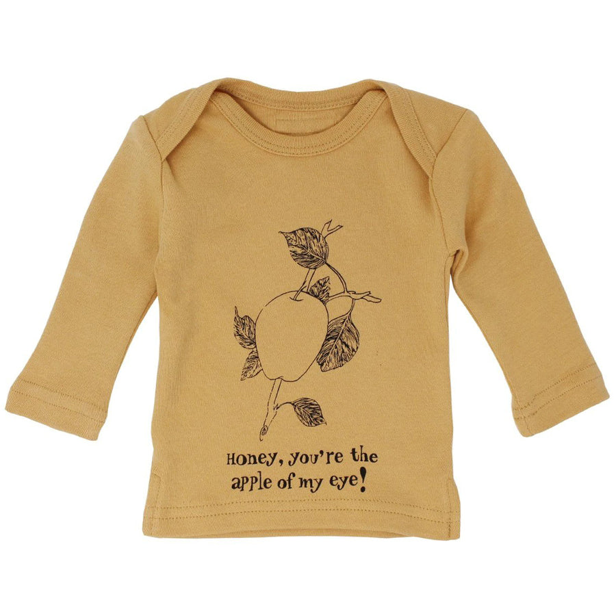 Organic L/Sleeve Shirt in Honey Apple - L'ovedbaby - joannas-cuties