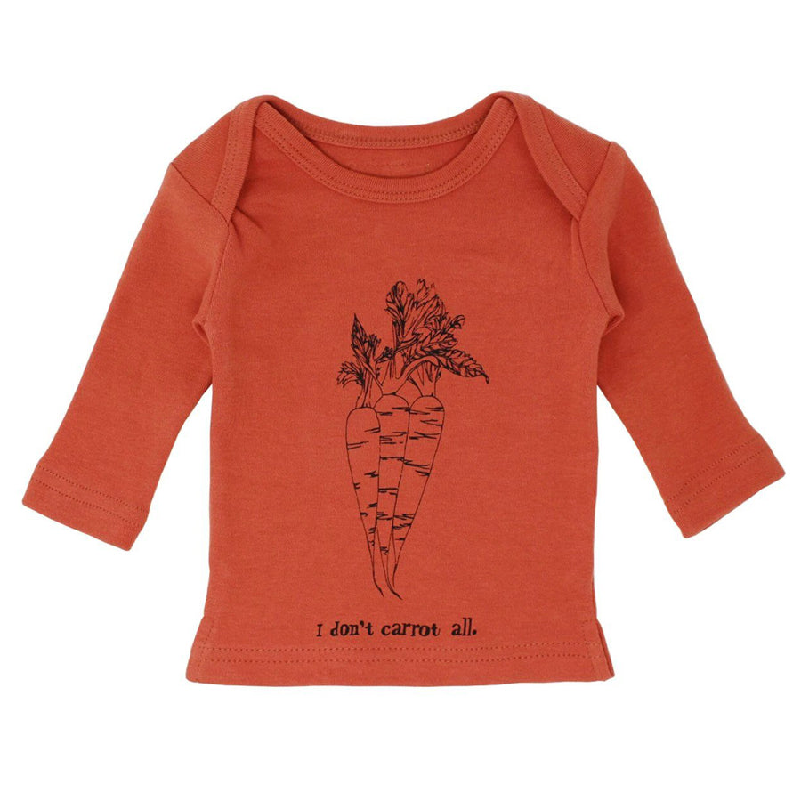 Organic L/Sleeve Shirt in Maple Carrot-L'ovedbaby-joannas_cuties