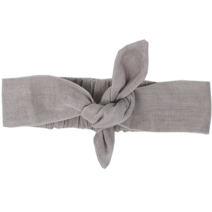 Organic Muslin Tie Headband in Cloud-L'ovedbaby-Joanna's Cuties