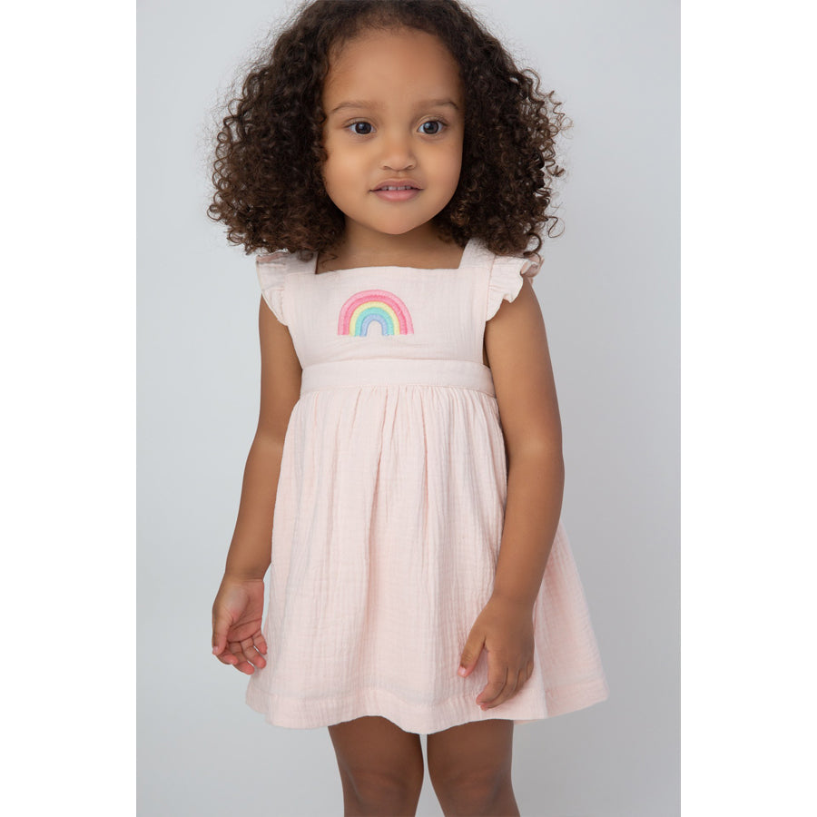 Organic Rainbows Pinafore Top & Bloomers-Angel Dear-Joanna's Cuties