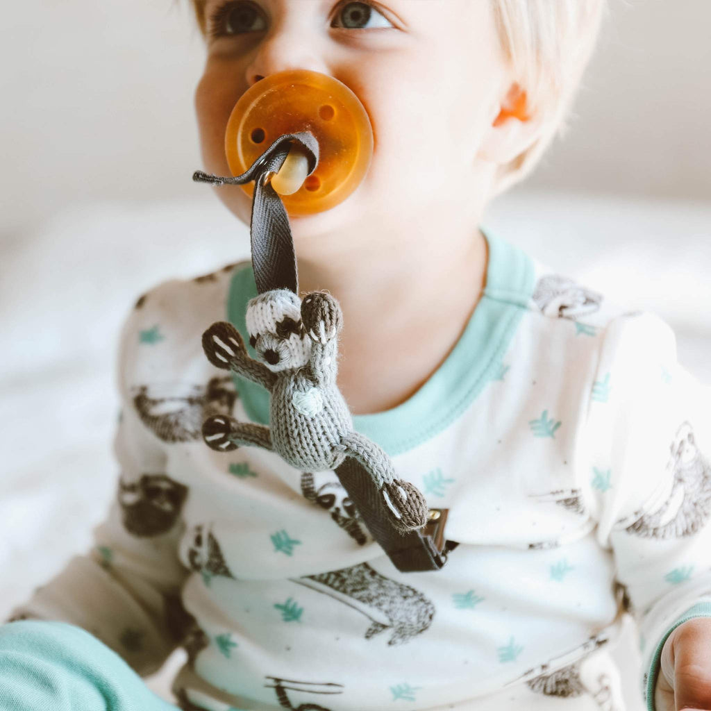 Pacifier Holder Sloth-Finn + Emma-joannas_cuties