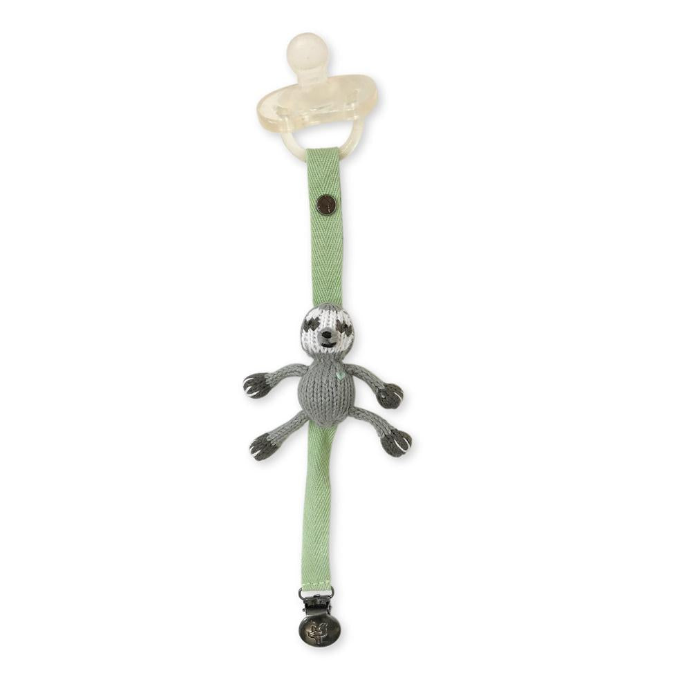 Pacifier Holder Sloth - Finn + Emma - joannas-cuties
